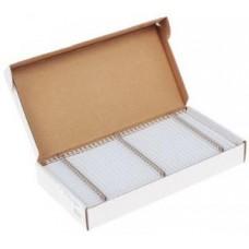 Пружины для переплета Fellowes (FS-53215) металлическая, 6 мм, сшивает 21-35 листов, белый, 100шт.