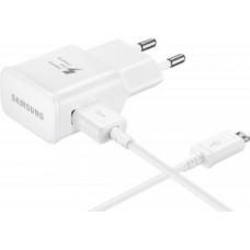 Сетевое зарядное устройство Samsung EP-TA20EWEUGRU, USB, microUSB 2.0, 2A, белый