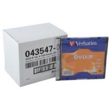 Диск DVD-R Verbatim 4.7 16x Slim case (43547)