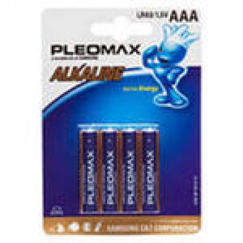Батарейки щелочные Samsung Pleomax LR03-4BL (40/400/32000)