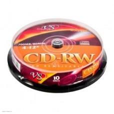 Диск CD-RW VS 700Mb 12x, Cake Box, 10 шт (VSCDRWCB1001)