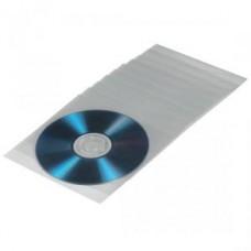 Конверт пластиковый для CD/DVD полипропилен 100 шт. прозрачный HAMA (H-33810)