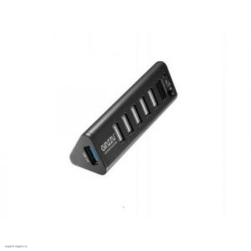 Концентратор USB 3.0/2.0 HUB Ginzzu GR-315UB Black 7 портов (1xUSB3.0+6xUSB2.0)