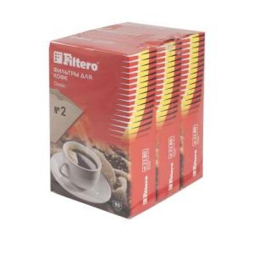 Фильтры для кофе Filtero №2/240 коричневый, бумажные 240шт.