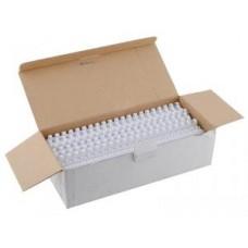 Пружины для переплета Fellowes (FS-53462) пластиковая, 12 мм, сшивает 56-80 листов, белый, 100шт.