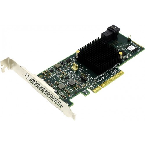 Контроллер LSI MegaRAID SAS 9341-4i SGL 4-port SAS/SATA 12Gb/s RAID 0/1/5/10/50/JBOD, PCI-Ex8 (LSI00419)