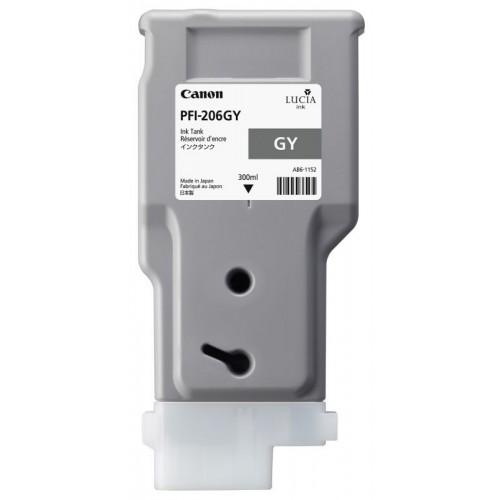 Картридж-чернильница PFI-206 GY Canon iPF6400/iPF6400S/iPF6400SE/iPF6450 Grey 300мл (5312B001)