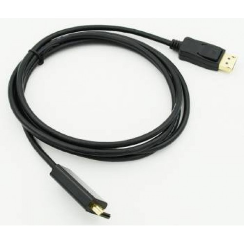 Кабель HDMI19-DisplayPort (m) 1.8м, черный