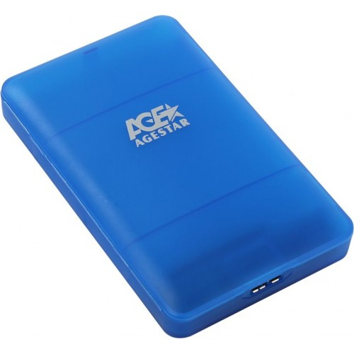 "Контейнер внешний AgeStar 3UBCP3 HDD/SSD 2.5"" USB3.0, blue (3UBCP3)"