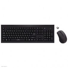 Клавиатура + мышь Oklick 210M клав:черный мышь:черный USB беспроводная