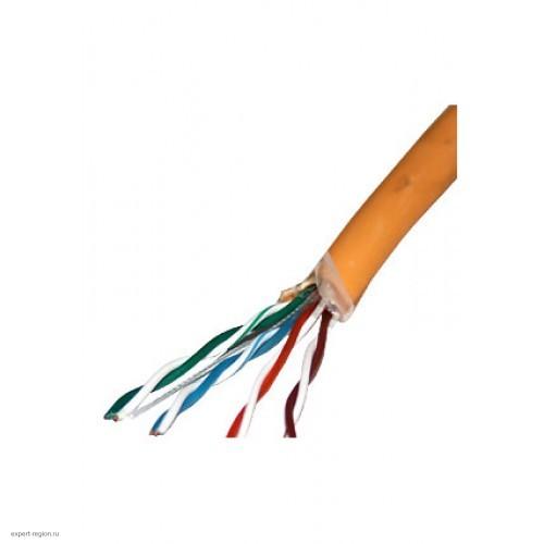 Кабель SkyNet Premium UTPнг-LSZH 4x2x0,51, низкое дымовыделение, нулевое содержание галогенов, медный, FLUKE TEST, кат.5e, однож., 305 м, оранжевый