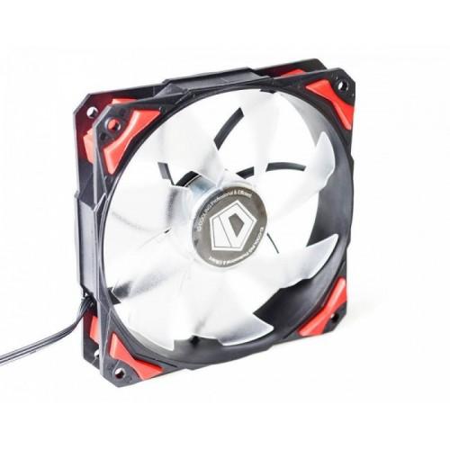 Вентилятор 120×120×25mm ID-Cooling PL-12025-R Red LED, Hydraulic Bearing, 14-35dBA, 71.2CFM, 600-2200rpm, PWM
