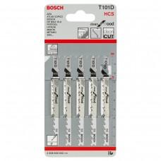 Набор пилок для лобзика Bosch T101D HCS 2608630032, 5 шт, по дереву