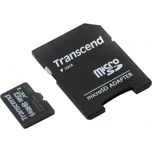 Карта памяти microSDXC 64Gb Transcend (TS64GUSDXC10)