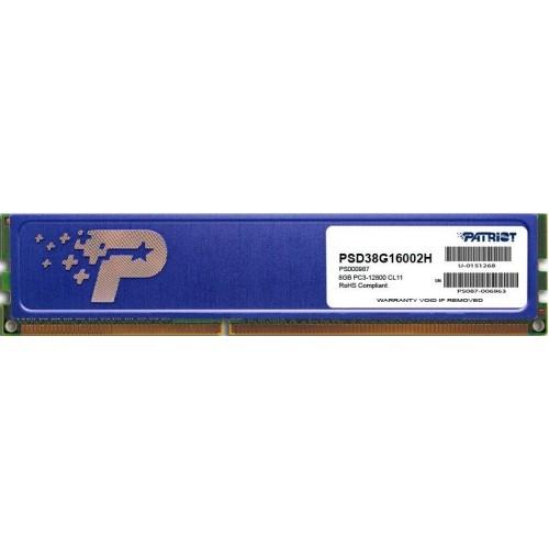 Модуль DIMM DDR3 8Gb Patriot (PSD38G16002H)