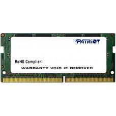 Модуль SODIMM DDR4 4Gb, 2400MHz, CL17, 1.2V Patriot