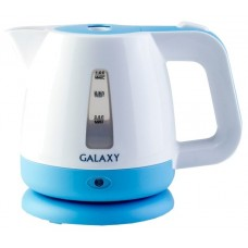 Электрочайник Galaxy GL 0223 (1 л/900 Вт/Пластик/Закрытая спираль/(Белый/Голубой))