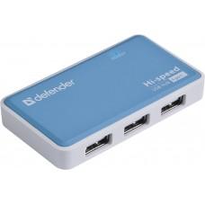 Концентратор внешний USB 2.0 Defender Quadro Power с функцией зарядки, 4хUSB с БП 5В, 2А, rtl