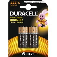 Батарейки Duracell Basic LR03-6BL MN2400 AAA (6шт)