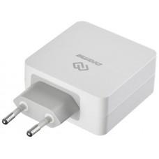 Быстрое зарядное устройство QC3.0&PD Digma DGPD-45W-WG 2x(5V, 9V, 12V,15V), быстр.ЗУ для Apple
