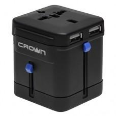 Зарядное устройство Crown CMDC-IP5-027, 2.1 А (суммарно на 2 порта) Гнезда для: Euro, США/Япония