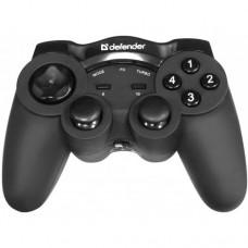 Беспроводной геймпад Defender Game Racer Wireless G2, прорезиненное покрытие, USB