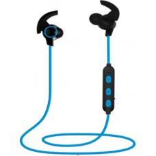 Беспроводные наушники с микрофоном Cadena S41, BT 4.2, синий, магниты, вставные