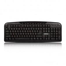 Клавиатура Velton K102M проводная, черный, 9 мультимедийных клавиш, USB