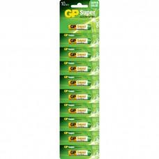 Батарейки GP Super 24A-B10, AAA, 1.5V 10шт
