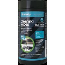 Салфетки Defender Pro для поверхностей, антибактериальные в тубе 110шт (CLN30103)