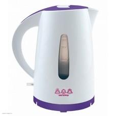 Чайник Мастерица ЕК1.7-01Р (белый/фиолет)