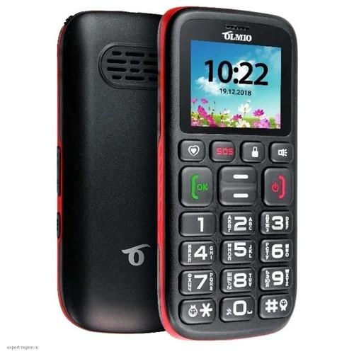 Мобильный телефон Olmio C17 черный/красный