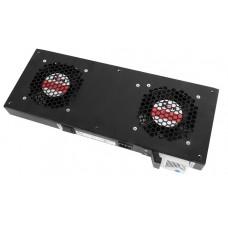 Модуль вентиляторный, 2 вентилятора с терморегулятором