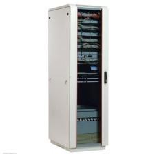 Шкаф телекоммуникационный напольный 33U (600x600) дверь стекло (3 места)