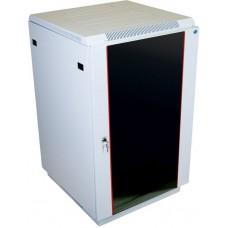 Шкаф телекоммуникационный напольный 22U (600x800) дверь стекло (2 места)