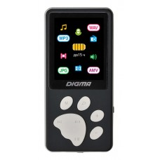 MP3 плеер DIGMA S4 flash 8Гб черный/серый [s4bg]