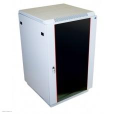 Шкаф телекоммуникационный напольный 18U (600x800) дверь стекло (2 места)