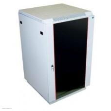 Шкаф телекоммуникационный напольный 22U (600x1000) дверь стекло  (3 места)