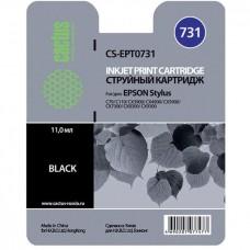 Картридж T0731 (Cactus CS-EPT0731) Epson Stylus C79/C110/CX3900/4900/TX2xx/4xx Black 11 ml