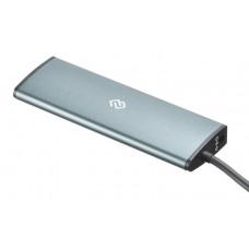 Разветвитель USB-C Digma HUB-2U3.0СCR-UC-G 5порт. серый