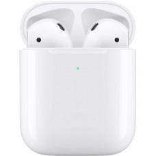 Наушники с микрофоном APPLE AirPods, with Wireless Charging Case, Bluetooth, вкладыши, белый [mrxj2ru/a]