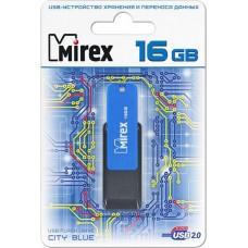 Флеш-диск USB 16Gb, Mirex City (13600-FMUCIB16) Синий