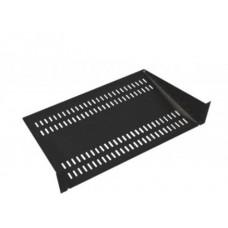 Полка перфорированная консольная 2U, глубина 400 мм, цвет черный