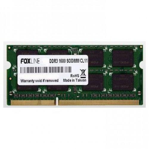 Модуль памяти SODIMM DDR3 SDRAM 4096Мb Foxline