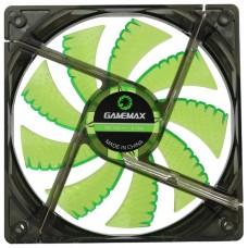 Вентилятор 120x120mm, GameMAX GMX-WF12G 1100rpm/втулка/23.4dBa/3+4 пин/25мм, зелен.подсветка