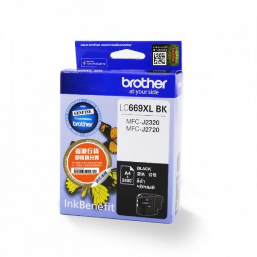 Картридж LC669XLBK Brother MFC-J2320/2720 Black 2400 стр.