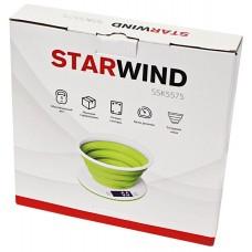 Весы кухонные STARWIND SSK5575,  белый/зеленый