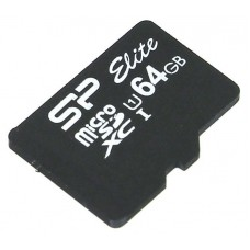 Карта памяти 64Gb MicroSD Silicon Power Elite Class 10 (SP064GBSTXBU1V10)