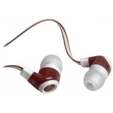 Наушники с микрофоном Defender Pulse-430, белый/красн., вставные