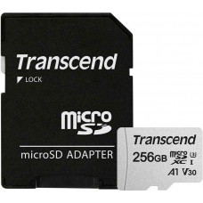 Карта памяти 256Gb MicroSD Transcend + адаптер (TS256GUSD300S-A)